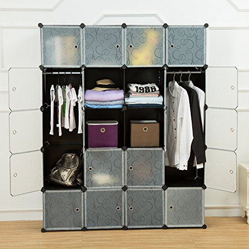 9 Cube Modular Closet Organizer Cloth Bookcase Shelf Storage Multi-function