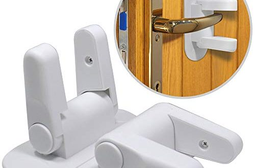 Child Safety Locks Wetong Door Lever Lock 2 Pack Child