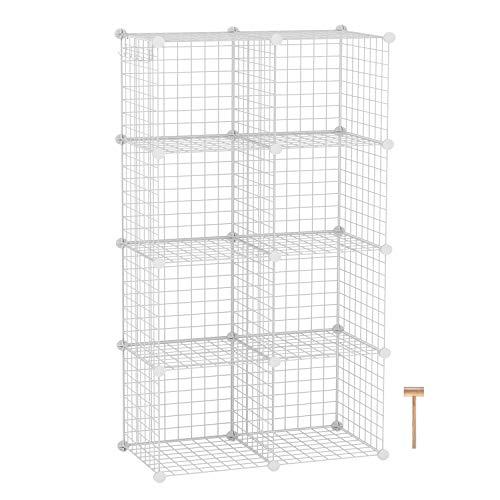 c u0026ahome wire storage cubes  metal grids book shelf